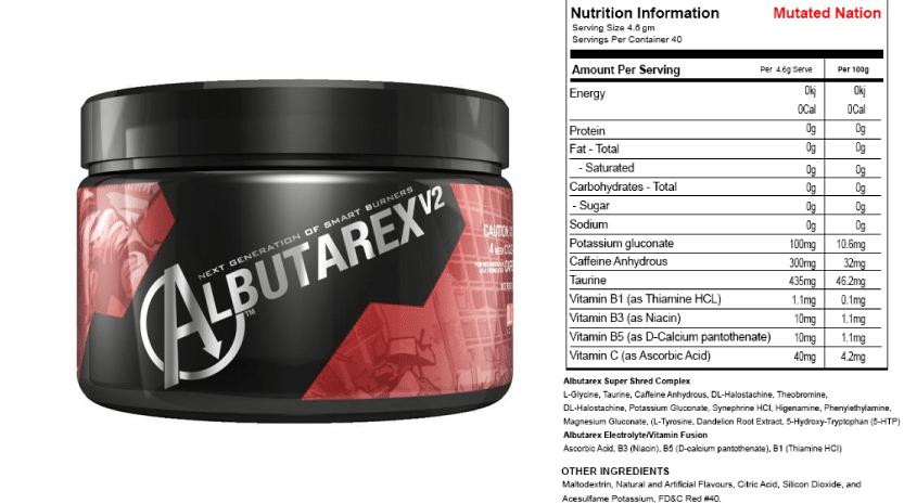 Albutarex ingredients