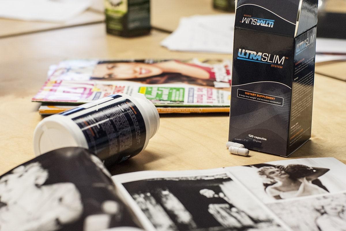 Botella foto en el escritorio