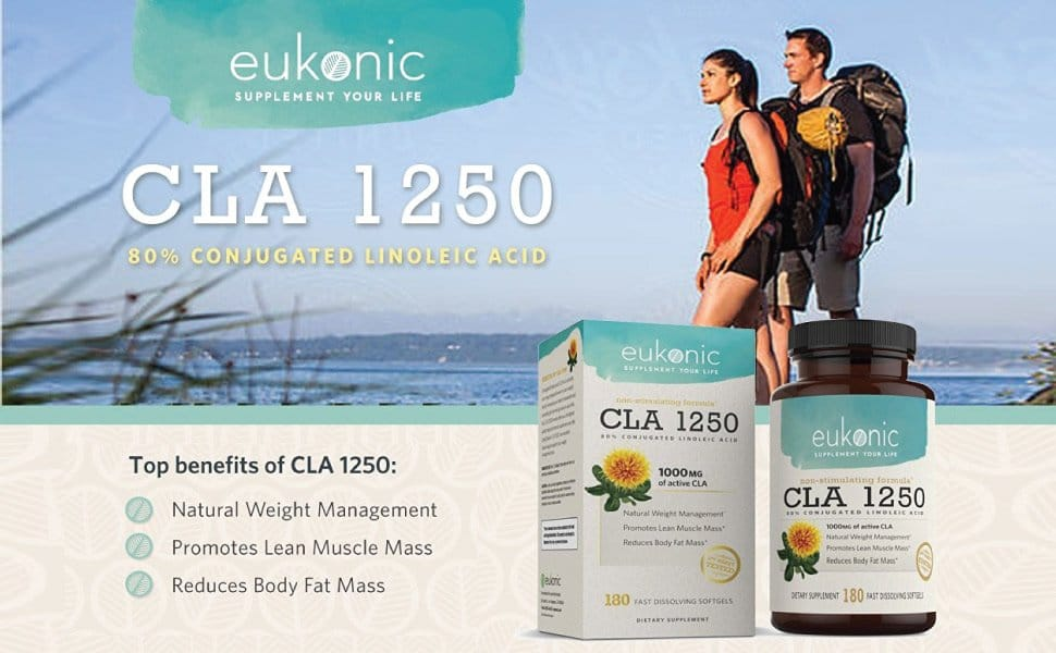 The listed CLA 1250 ingredients and main benefits when cosumed regular.