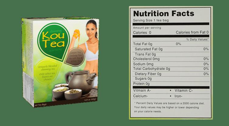 Ingredientes de kou tea