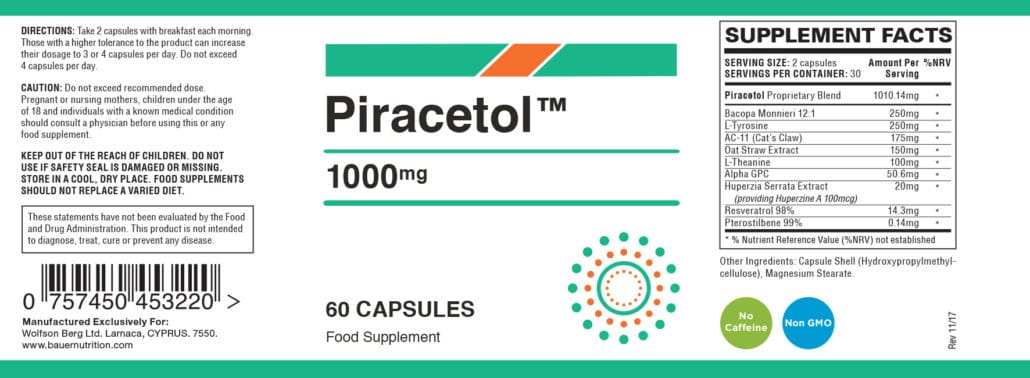 Piracetol Ingredients
