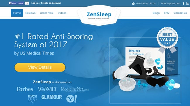 Best price for the ZenSleep products.